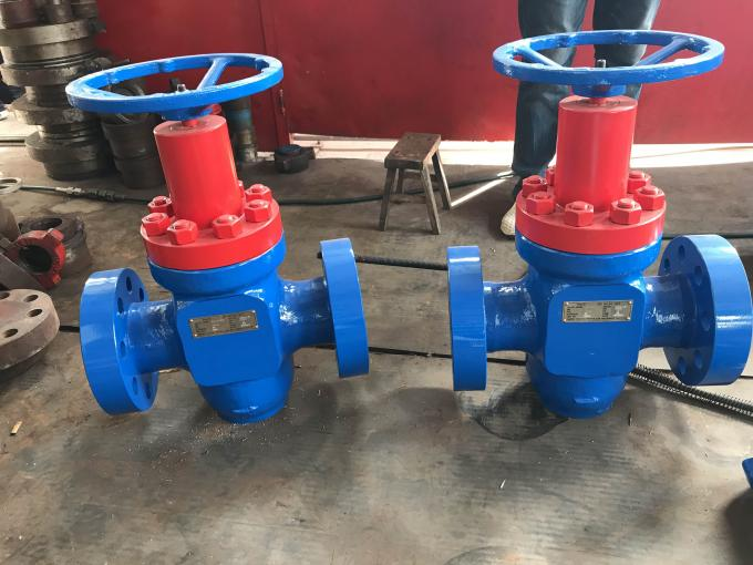 "WKM Valve Type Wellhead Christmas Tree 3 1/8""-5000psi Blue And Red Painted"