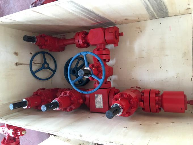 Single Wing Wellhead Oil And Gas Well Christmas Tree 600 Series API 6A Standard