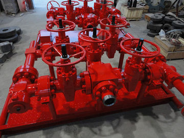 "China Red Choke Manifold Oil And Gas 2 1/16"" X 10000psi For High Pressure Well Testing supplier"