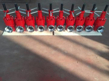 "China Red API 6A Mud Gate Valve , 2"" Fig 1502 Forged Steel Gate Valve 15000 Psi supplier"