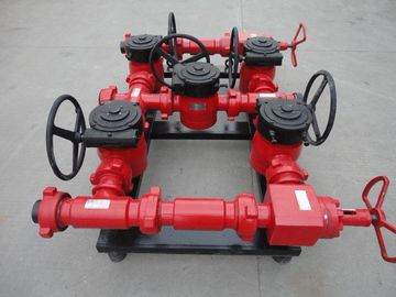 "China High Pressure Hydraulic Choke Manifold Oil And Gas Drilling Equipment 3 1 / 8"" X 5000 Psi supplier"
