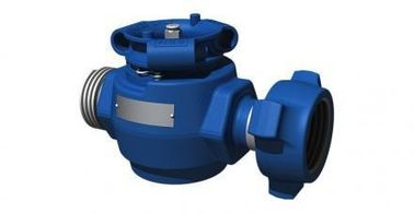Blue High Pressure Wellhead Valves For Oil Well Cementing Operation