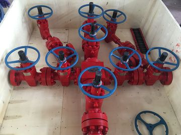Dual Tubing Wellhead And Xmas Tree For Oil Well Flow Control 5000 Psi Pressure