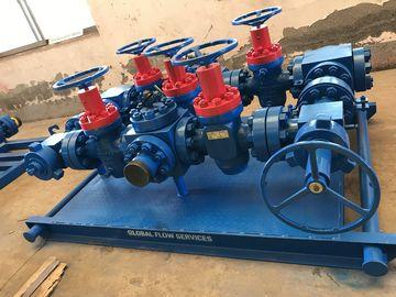 "China Surface Well Testing Wellhead Manifold With Choke Valves 3 1/8"" X 5000# supplier"