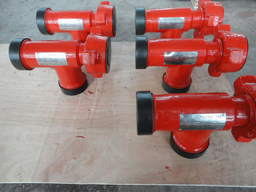 "China 2"" Pumping Tee Wellhead Parts MxMxF 2"" Fig1502 Integral Flow Tees Anti Rust supplier"