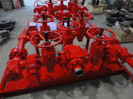 "Red Choke Manifold Oil And Gas 2 1/16"" X 10000psi For High Pressure Well Testing"