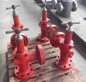 China H2 Adjustable Flanged Manual Choke Valve / Christmas Tree Valve Wear Resistance factory