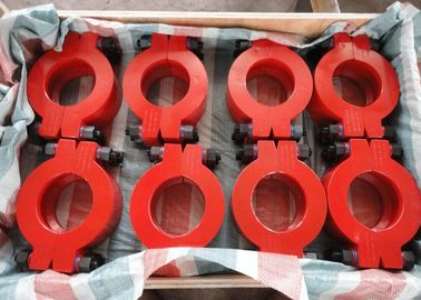 China Red Wellhead Fittings No.5 Hub Clamp Connector For Safety Connection factory