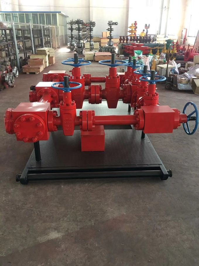 "3 1/16"" X 10000psi Wellhead Manifold For Oil Well Flow Control Equipment"