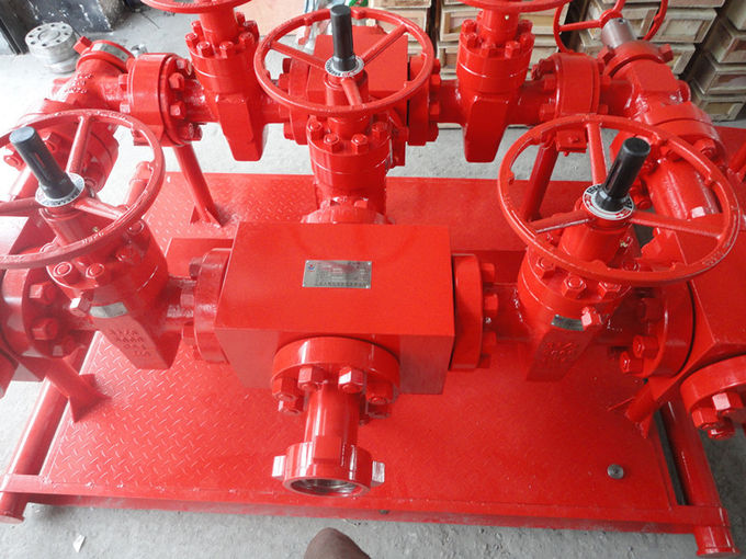 "High Pressure Hydraulic Choke Manifold Oil And Gas Drilling Equipment 3 1 / 8"" X 5000 Psi"