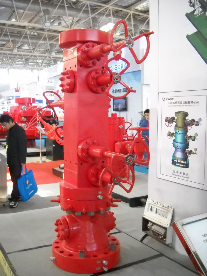 "Typical Multi - Mounted Wellhead Casing Head 20"" Size Class EE Material"