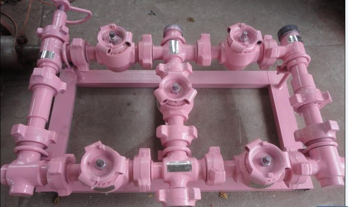 "Durable Well Pressure Test Manifold 3"" 10000psi For Oil Well Flow Control"