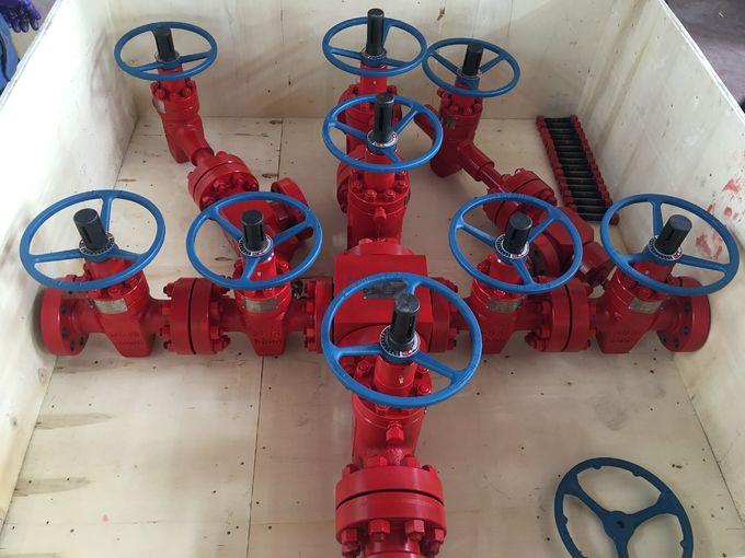 3000 Psi  Pressure Oil & Gas Christmas Tree , Oil Wellhead Equipment  Dual Wing