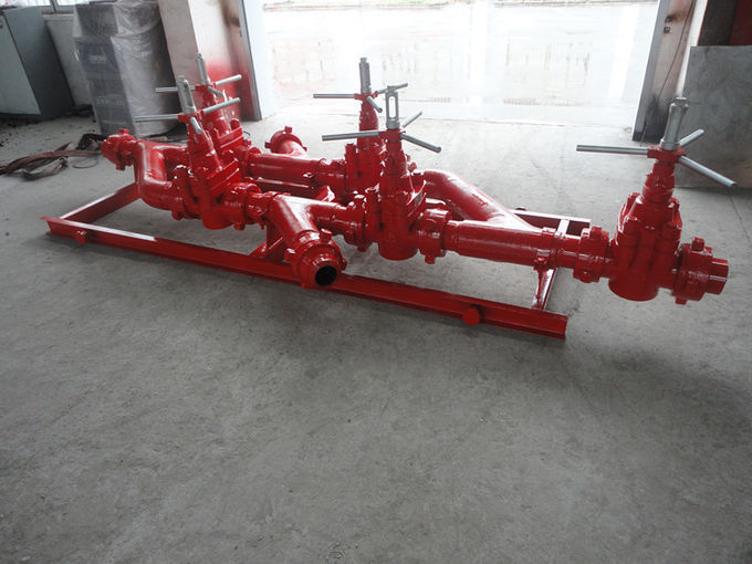 Oil well drilling operation Wellhead Manifold with Mud Gate Valve 10000 psi