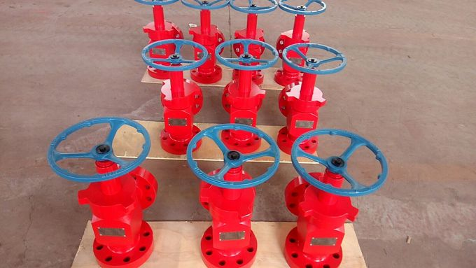 Anti Rust Wellhead Xmas Tree Valve / API 6A Welded Oil And Gas Choke Valve