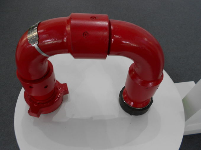 10000 Psi Swivel Tee Fitting , Wellhead Crossover Customized Design Available