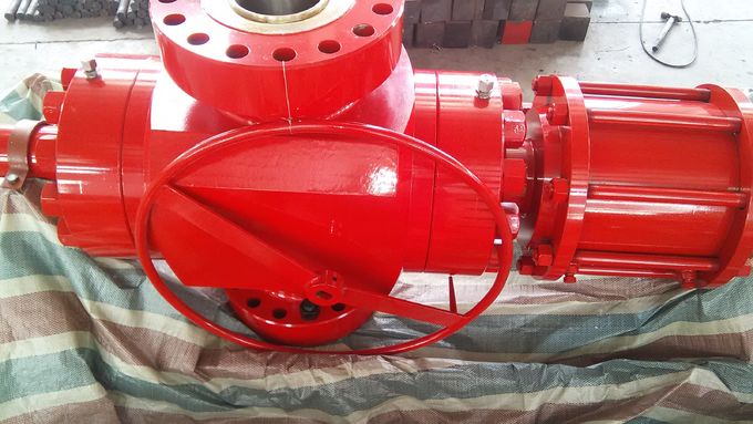 Red Wellhead Surface Safety Valve , FC Hydraulic Gate Valve With Manual Operation